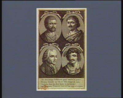 Junius Brutus Mutius Scevola J.J. <em>Rousseau</em> Guill.me Tell [estampe]