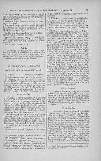 Tome 38 : Du 29 janvier au 21 février 1792 - page 27