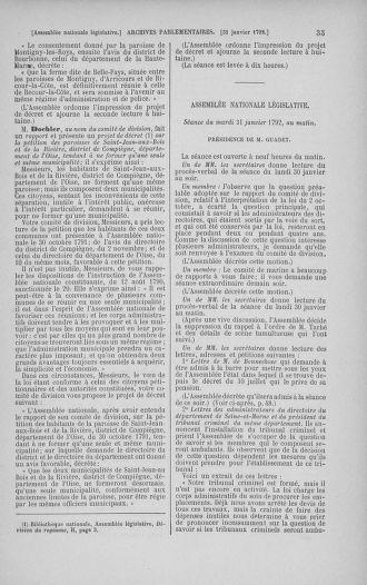 Tome 38 : Du 29 janvier au 21 février 1792 - page 35