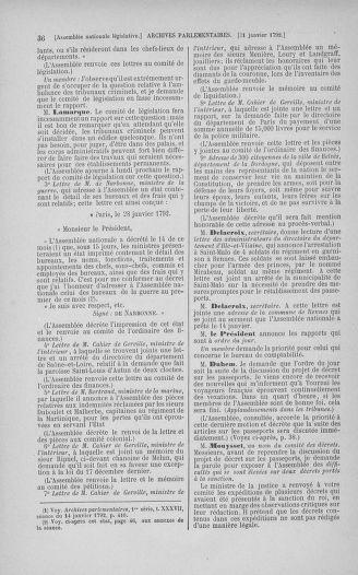 Tome 38 : Du 29 janvier au 21 février 1792 - page 36