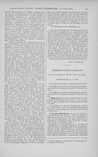 Tome 38 : Du 29 janvier au 21 février 1792 - page 57