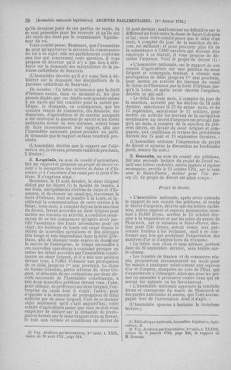 Tome 38 : Du 29 janvier au 21 février 1792 - page 58