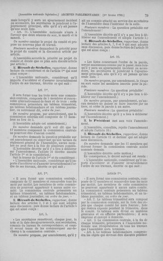 Tome 38 : Du 29 janvier au 21 février 1792 - page 79