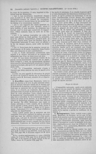 Tome 38 : Du 29 janvier au 21 février 1792 - page 80