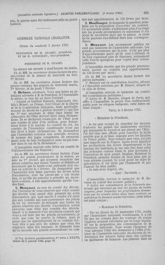 Tome 38 : Du 29 janvier au 21 février 1792 - page 105