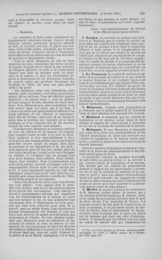 Tome 38 : Du 29 janvier au 21 février 1792 - page 121