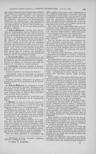 Tome 38 : Du 29 janvier au 21 février 1792 - page 129