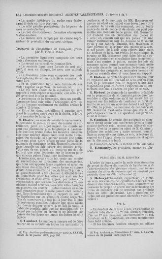 Tome 38 : Du 29 janvier au 21 février 1792 - page 134