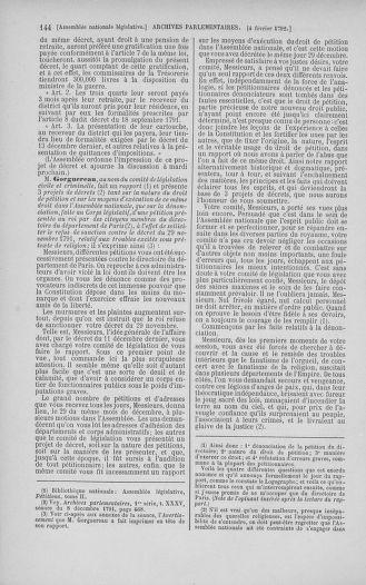 Tome 38 : Du 29 janvier au 21 février 1792 - page 144