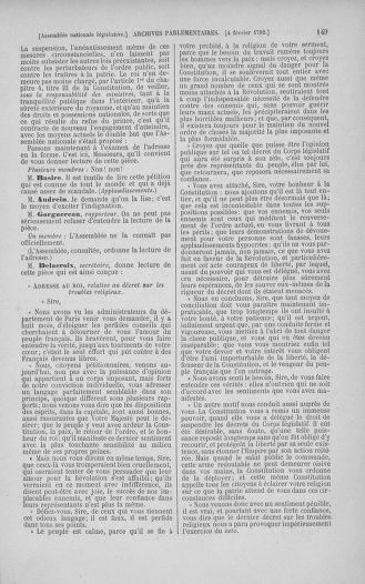 Tome 38 : Du 29 janvier au 21 février 1792 - page 149