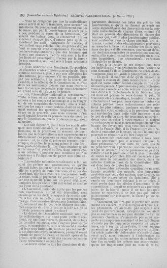 Tome 38 : Du 29 janvier au 21 février 1792 - page 150