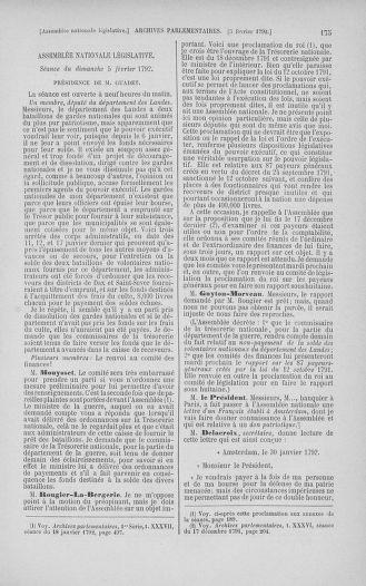 Tome 38 : Du 29 janvier au 21 février 1792 - page 175