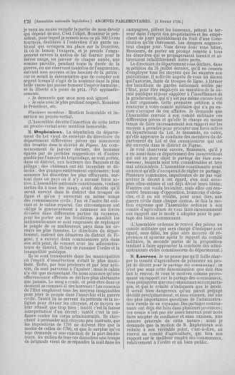 Tome 38 : Du 29 janvier au 21 février 1792 - page 176