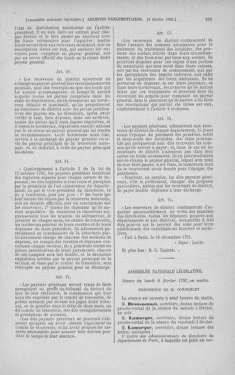 Tome 38 : Du 29 janvier au 21 février 1792 - page 191