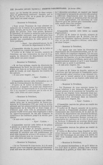Tome 38 : Du 29 janvier au 21 février 1792 - page 192