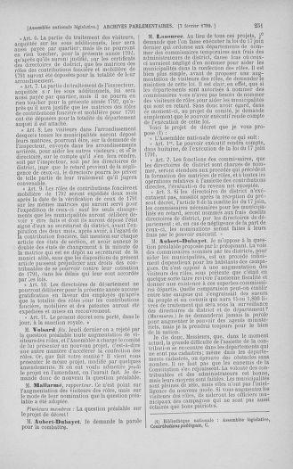 Tome 38 : Du 29 janvier au 21 février 1792 - page 251