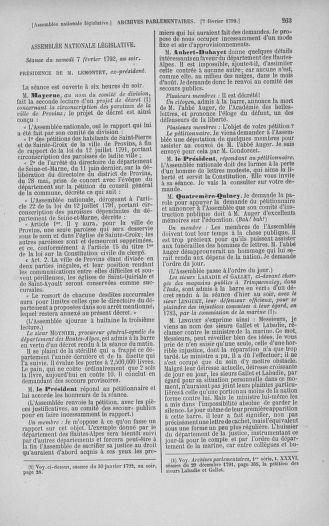 Tome 38 : Du 29 janvier au 21 février 1792 - page 263