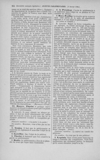 Tome 38 : Du 29 janvier au 21 février 1792 - page 264