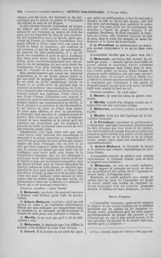 Tome 38 : Du 29 janvier au 21 février 1792 - page 266