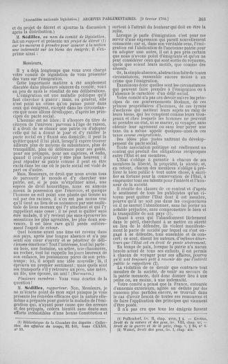 Tome 38 : Du 29 janvier au 21 février 1792 - page 303