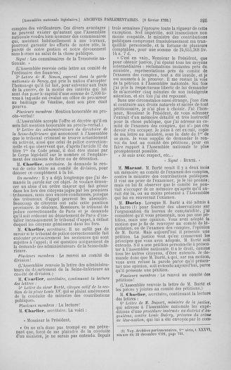 Tome 38 : Du 29 janvier au 21 février 1792 - page 325