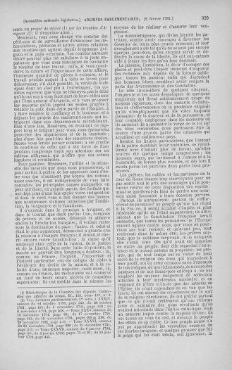 Tome 38 : Du 29 janvier au 21 février 1792 - page 329
