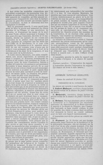 Tome 38 : Du 29 janvier au 21 février 1792 - page 345