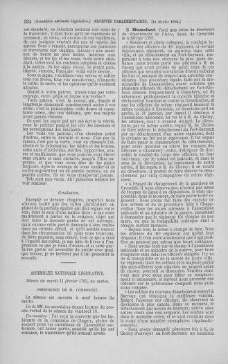 Tome 38 : Du 29 janvier au 21 février 1792 - page 394