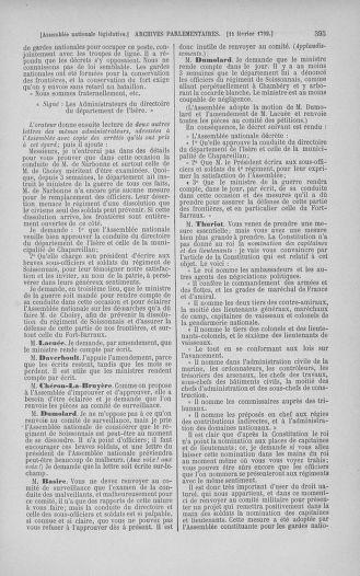 Tome 38 : Du 29 janvier au 21 février 1792 - page 395