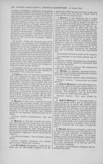 Tome 38 : Du 29 janvier au 21 février 1792 - page 424