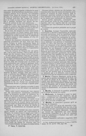 Tome 38 : Du 29 janvier au 21 février 1792 - page 433
