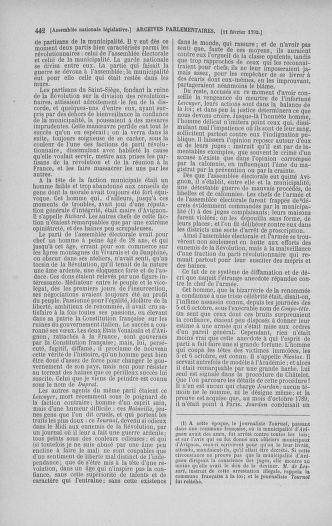Tome 38 : Du 29 janvier au 21 février 1792 - page 442