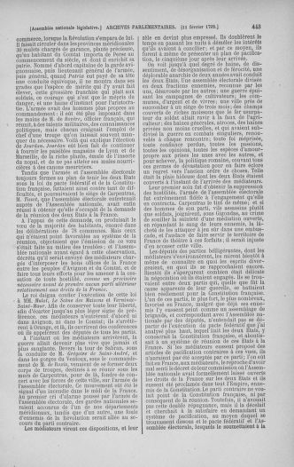 Tome 38 : Du 29 janvier au 21 février 1792 - page 443