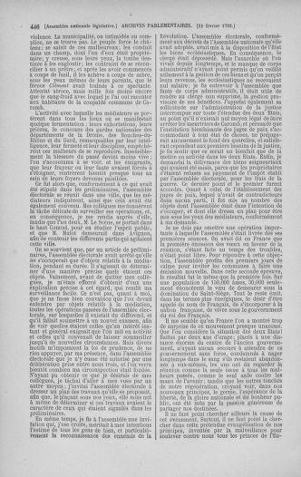 Tome 38 : Du 29 janvier au 21 février 1792 - page 446