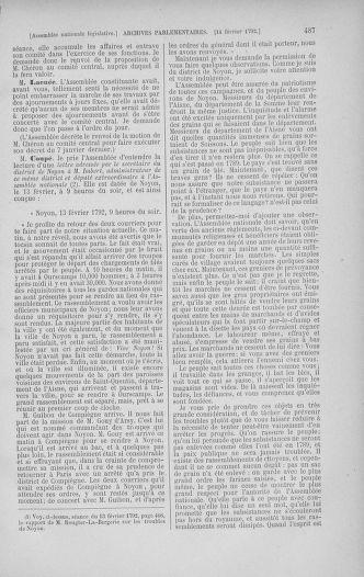 Tome 38 : Du 29 janvier au 21 février 1792 - page 487