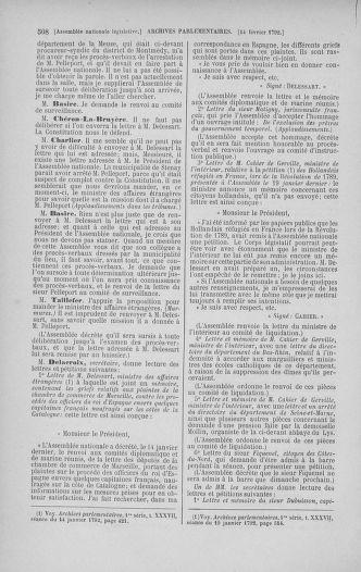Tome 38 : Du 29 janvier au 21 février 1792 - page 508