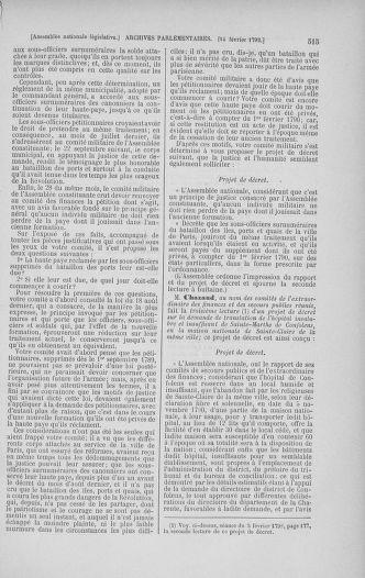 Tome 38 : Du 29 janvier au 21 février 1792 - page 515