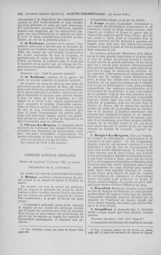 Tome 38 : Du 29 janvier au 21 février 1792 - page 518