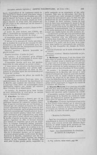 Tome 38 : Du 29 janvier au 21 février 1792 - page 519