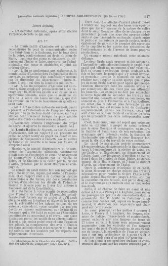Tome 38 : Du 29 janvier au 21 février 1792 - page 547