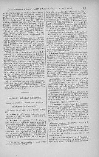 Tome 38 : Du 29 janvier au 21 février 1792 - page 583