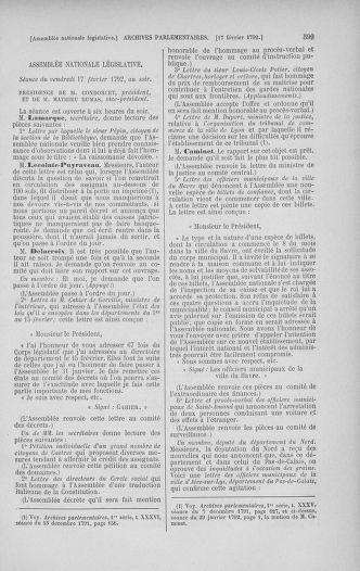 Tome 38 : Du 29 janvier au 21 février 1792 - page 599