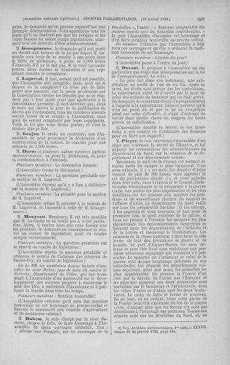 Tome 38 : Du 29 janvier au 21 février 1792 - page 607
