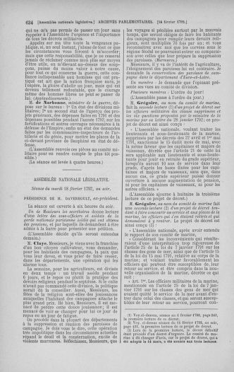 Tome 38 : Du 29 janvier au 21 février 1792 - page 634