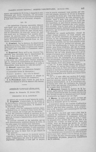 Tome 38 : Du 29 janvier au 21 février 1792 - page 647