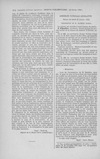 Tome 38 : Du 29 janvier au 21 février 1792 - page 676