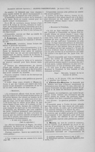 Tome 38 : Du 29 janvier au 21 février 1792 - page 677