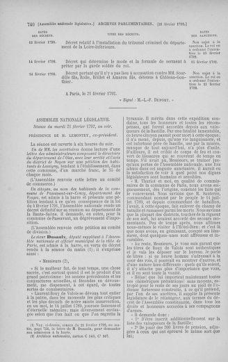 Tome 38 : Du 29 janvier au 21 février 1792 - page 740