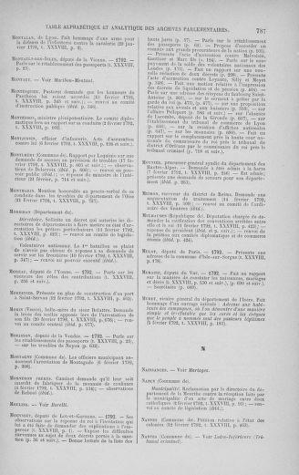 Tome 38 : Du 29 janvier au 21 février 1792 - page 787