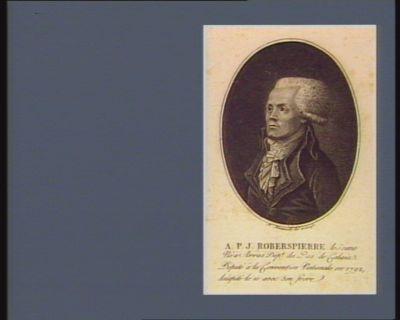 A.P.J. Robespierre le jeune né à Arras dépt. du Pas de Calais. Deputé à la Convention nationale en 1792, décapité le 10 avec son frère : [estampe]